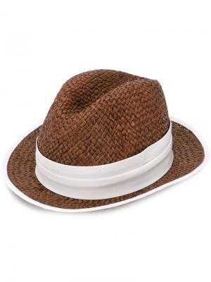Trilby hat Eleventy. Цвет: коричневый