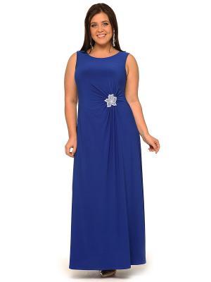 Платье, кардиган SVESTA. Цвет: синий