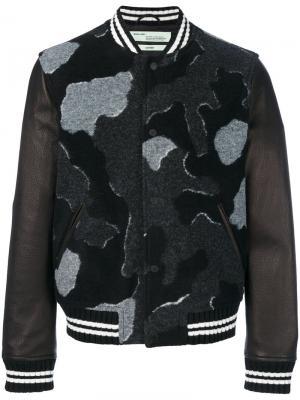 Куртка Camou Bomber Off-White. Цвет: чёрный