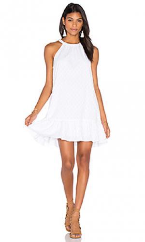 Мини платье в горошек dover Splendid. Цвет: белый