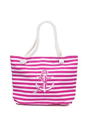 Сумка пляжная NUAGES. Цвет: белый, розовый