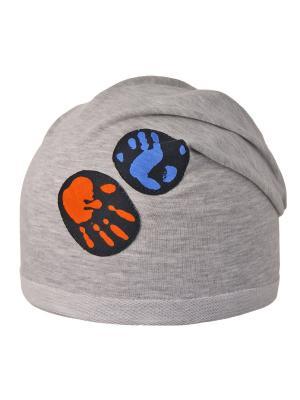 Шапка Elo-Melo. Цвет: серый меланж, бирюзовый, оранжевый