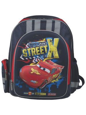 Рюкзак с эргономической EVA-спинкой.Disney Cars Disney. Цвет: синий, желтый, красный