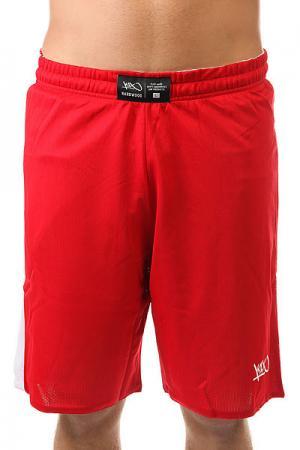 Шорты классические  Hardwood Reversible Game Set Shorts White/Red K1X. Цвет: белый,красный
