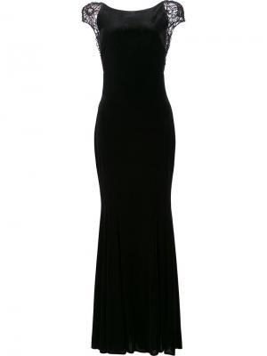 Open back fitted dress Badgley Mischka. Цвет: none