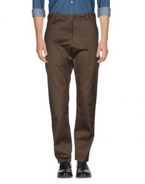 Повседневные брюки FRENCH CONNECTION. Цвет: темно-зеленый