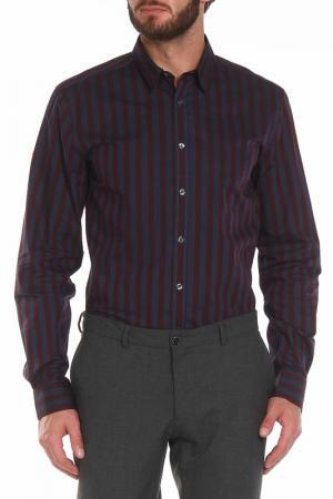Рубашка Paul Smith. Цвет: серый-бордовый