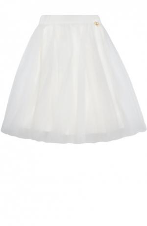 Пышная многоярусная юбка Angel's Face. Цвет: белый
