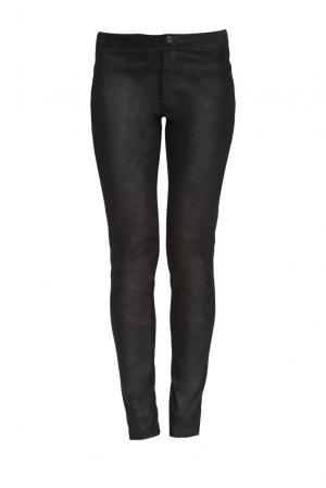 Замшевые брюки 160188 Izeta. Цвет: черный