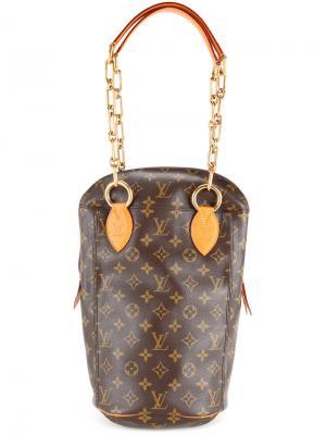 Сумка на цепочных ручках Louis Vuitton Vintage. Цвет: коричневый