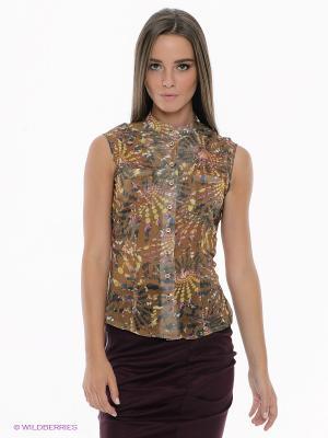 Блузка SUGARLIFE. Цвет: светло-коричневый