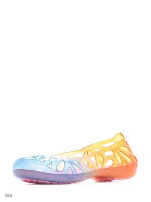 Пантолеты Effa. Цвет: синий, оранжевый
