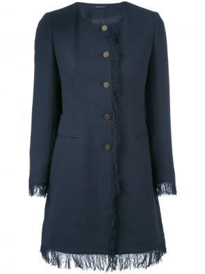 Doris fringed jacket Tagliatore. Цвет: синий