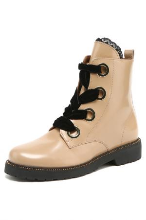 Ботинки TWIN-SET. Цвет: бежевый