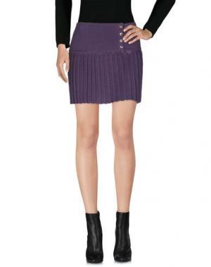 Мини-юбка AGATHA CRI. Цвет: фиолетовый