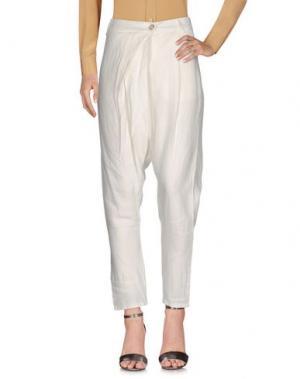 Повседневные брюки MANILA GRACE DENIM. Цвет: белый