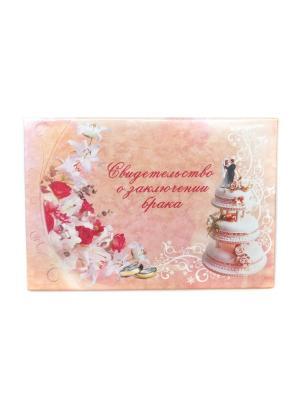 Обложка для свидетельства о заключении брака Lola. Цвет: персиковый