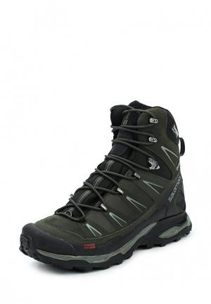 Ботинки Salomon. Цвет: зеленый