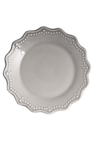 Тарелки десертные 21 см 6 шт. H&H. Цвет: серый