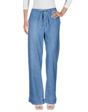 Джинсовые брюки EQUIPMENT FEMME. Цвет: синий