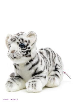 Тигр детеныш белый 26 см Hansa. Цвет: белый, черный
