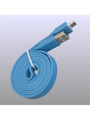Usb кабель Pro Legend плоский micro Usb, 1м,  голубой. Цвет: голубой