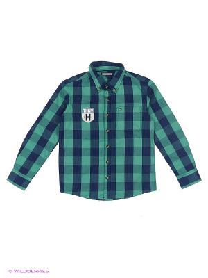 Рубашка Tommy Hilfiger. Цвет: зеленый
