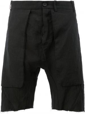 Raw edge shorts Masnada. Цвет: чёрный