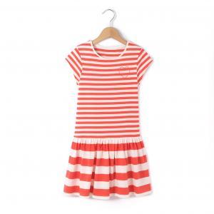 Платье в полоску с короткими рукавами на 3-12 лет R édition. Цвет: в полоску