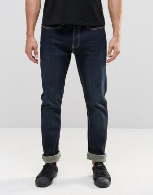 LDN DNM Темные джинсы слим. Цвет: темно-синий