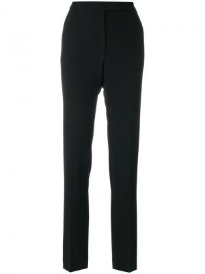 Классические брюки слим Elie Saab. Цвет: чёрный