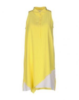 Короткое платье BAND OF OUTSIDERS. Цвет: желтый