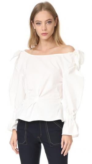 Блуза Michelle Rejina Pyo. Цвет: белый