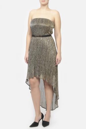 Легкое платье с поясом Frank Lyman Design. Цвет: золотой