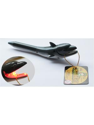 Ручка Дельфин Zoolight. Цвет: серый
