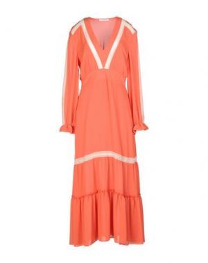 Длинное платье ANGELA MELE MILANO. Цвет: оранжевый