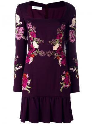 Платье с цветочным принтом Zuhair Murad. Цвет: красный