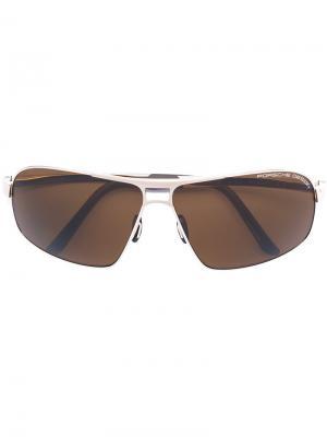 Солнцезащитные очки-авиаторы Porsche Design. Цвет: металлический
