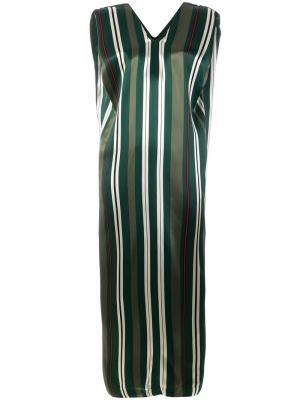 Платье в полоску Ter Et Bantine. Цвет: зелёный