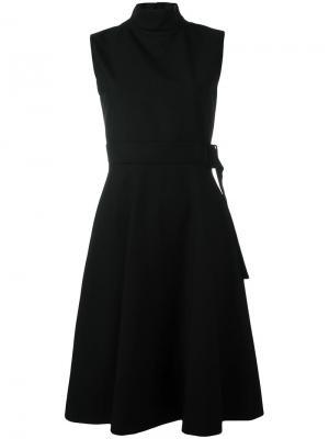 Платье с поясом Harmony Paris. Цвет: чёрный
