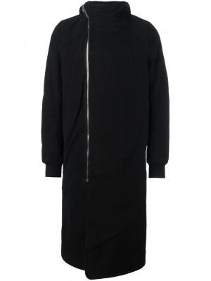Пальто с капюшоном на молнии Rick Owens DRKSHDW. Цвет: чёрный