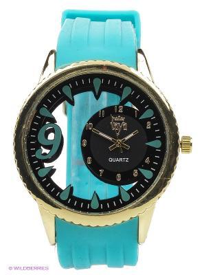 Часы Taya. Цвет: голубой, золотистый