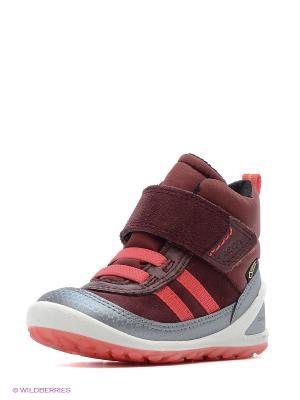Ботинки ECCO. Цвет: серебристый, бордовый