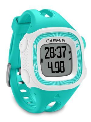 Часы для бега Forerunner 15 Teal/White GARMIN. Цвет: салатовый