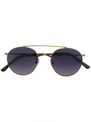 Солнцезащитные очки в круглой оправе Spektre. Цвет: металлический