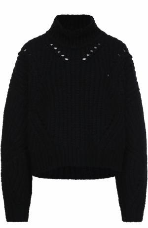 Шерстяной свитер фактурной вязки Isabel Marant. Цвет: черный