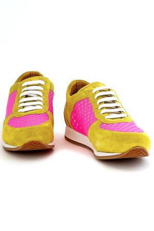 Кроссовки Fabiano Ricci. Цвет: желтый