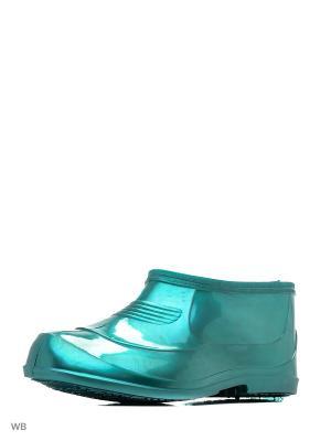 Галоши ZET. Цвет: зеленый