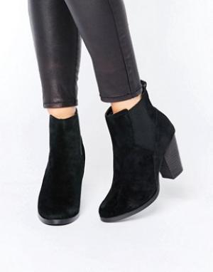 New Look Замшевые ботинки челси. Цвет: черный