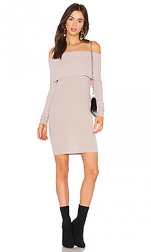 Платье veronica LA Made. Цвет: бледно-лиловый